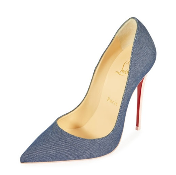 various colors 6cbfd 1ccb9 Christian Louboutin 'So Kate' Denim Pumps 36.5